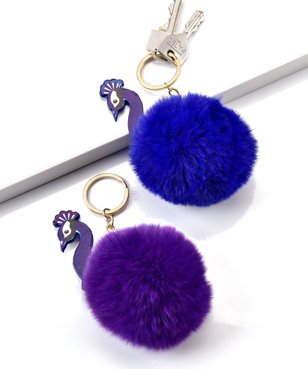 Avenue 9 Peacock Boutique, Peacock Design Keychain, 16 Pieces w/Displayer