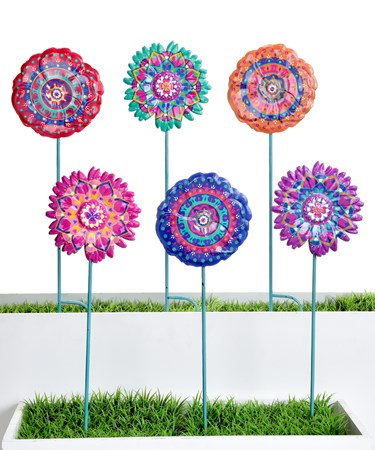 Flower Garden Stakes, 6 Asst.