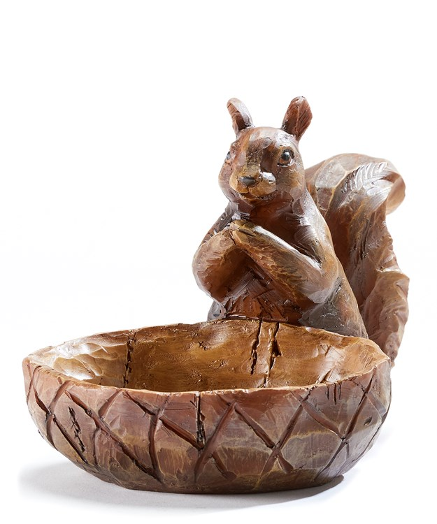 Resin Nut Bowl with Squirrel