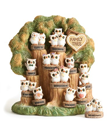 Owl Family Tree, 12 Asst. w/Displayer