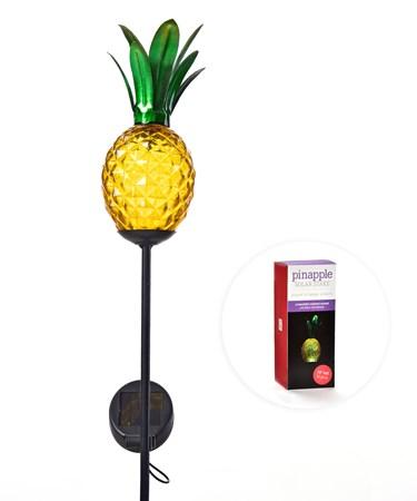 Pineapple Solar Light Stake w/Gift Box