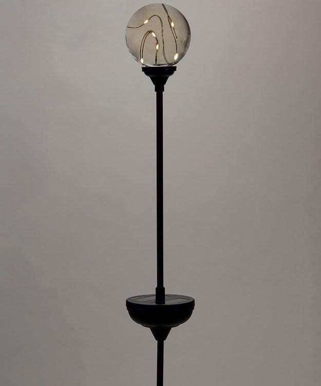 Golden Solar Globe Stake Light