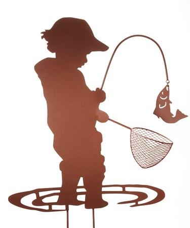 Fishing Boy Iron Stake
