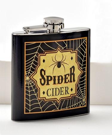 Halloween Spider Cider Flask