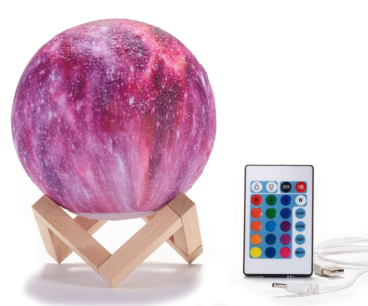 Round Lamp on Stand w/Remote Control & Gift Box
