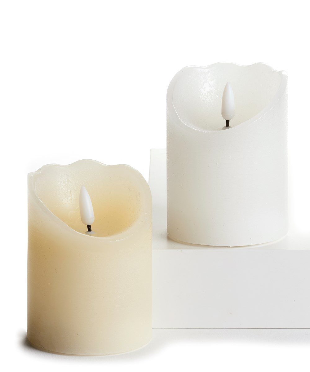 Led Wax Candle, 2 Asst. w/Displayer