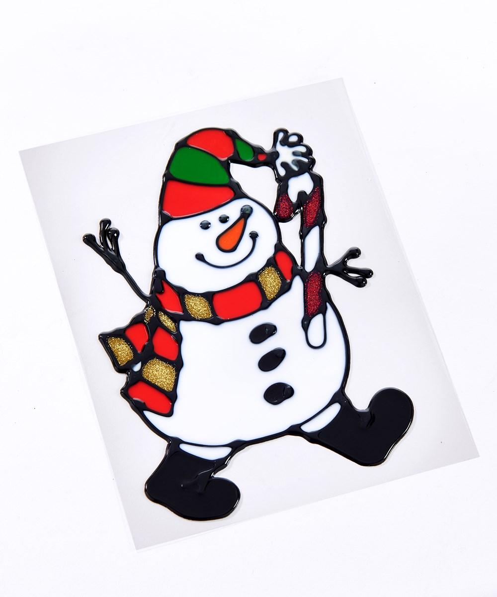 PVC Novelty Snowman Design Sticker