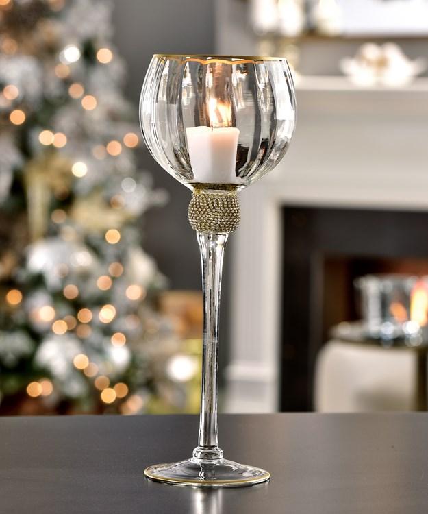 Large Wine Glass Design Candle Holder