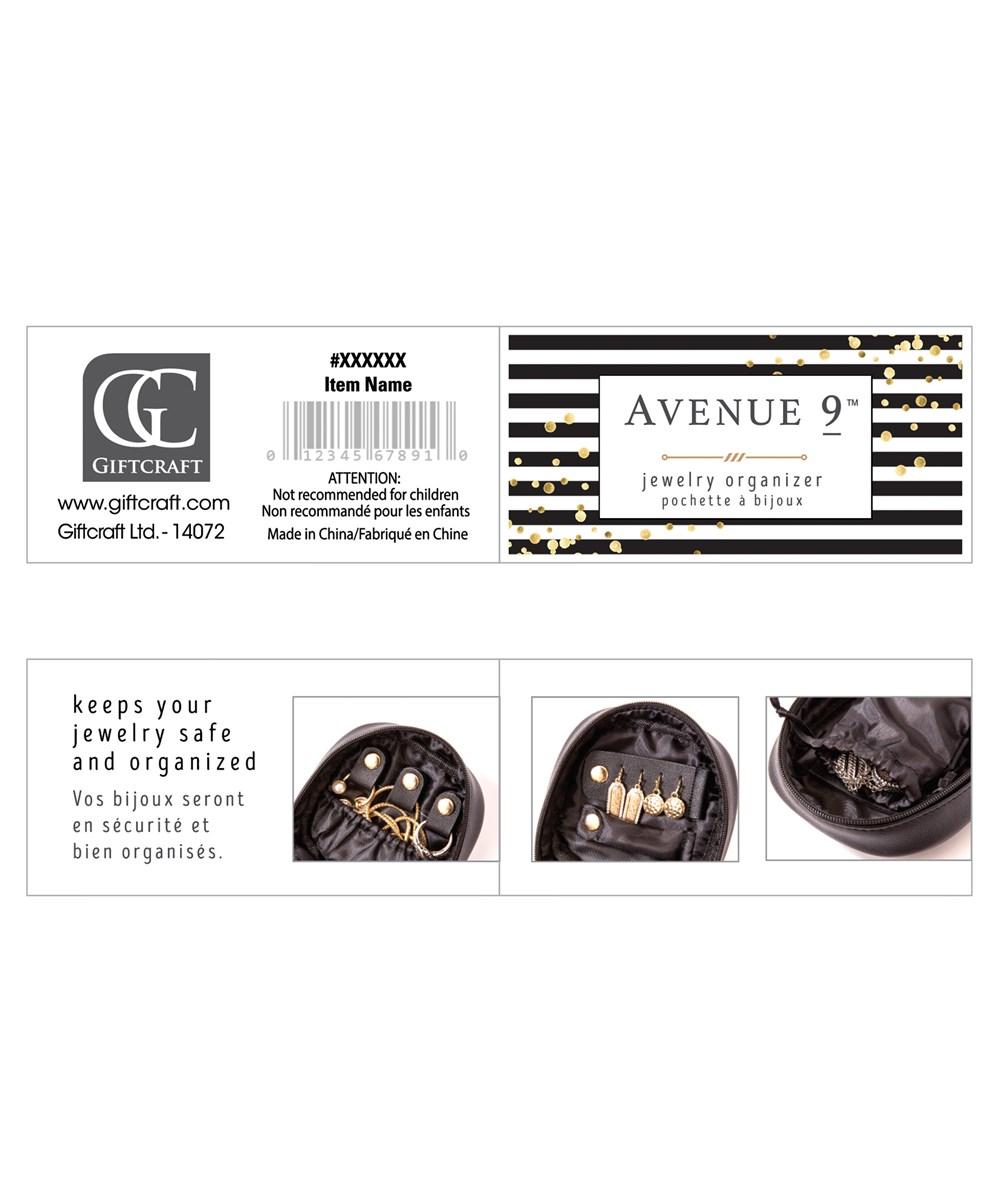 Avenue 9 Wish, PU Mini Travel Jewelry Case, 2 Asst