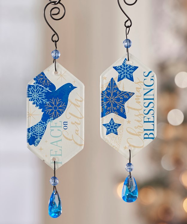 Dangling Christmas Ornaments, 2 Asst.