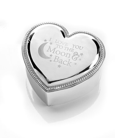 Avenue 9 Wish, Zinc Alloy Heart Shape Trinket Box
