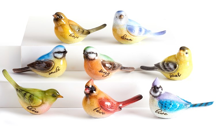 BirdFigurines8AsstwDisplayer