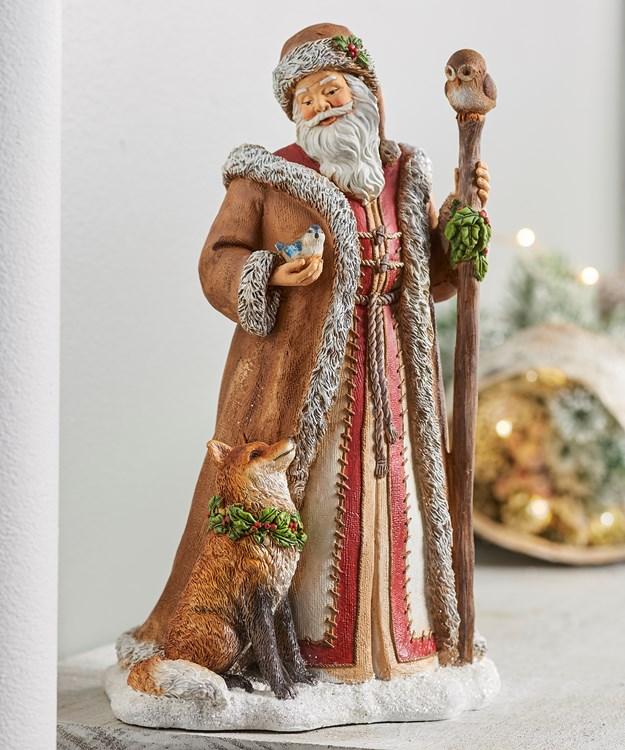 Santa w/Animals Design Decor