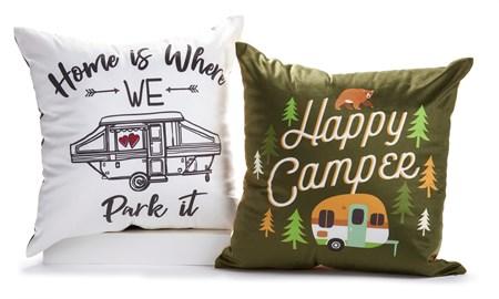 Camper Pillow, 2 Asst.