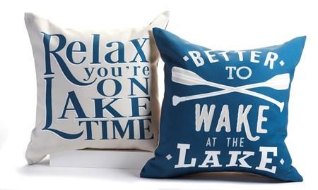 Outdoor Pillows, 2 Asst.