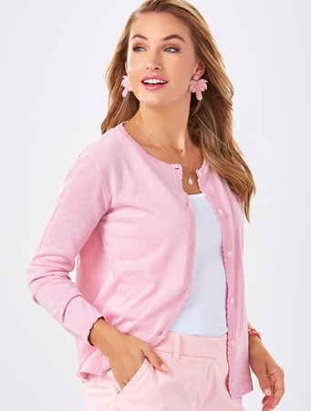 Charlie Paige, Cardigan with scallop detail, 3 Asst.