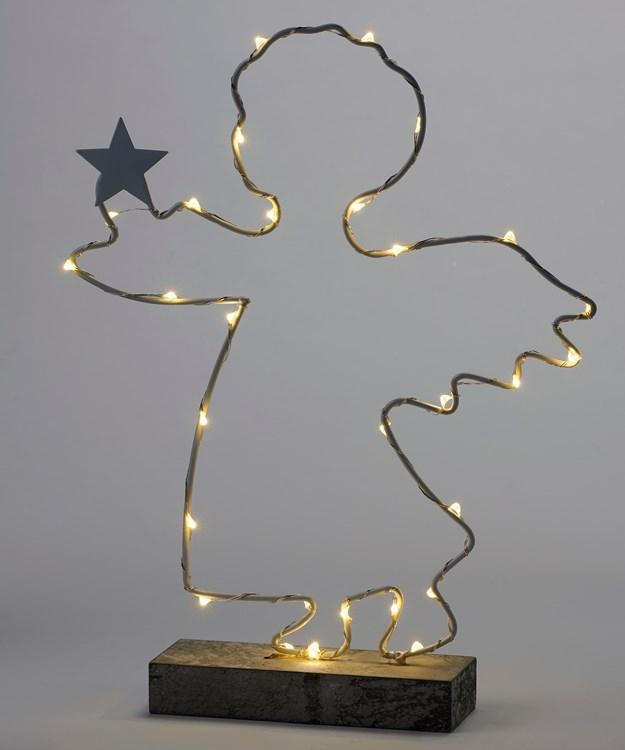Small LED Lighted Angel Design Decor