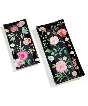 FloralTraysSetof2