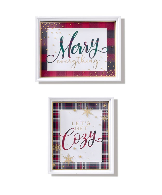 Avenue 9 Stay Cozy, Large Sentiment Wall Plaques, 2 Asst.