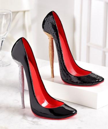High Heel Shoe Design Wine Bottle Holder, 2 Asst.