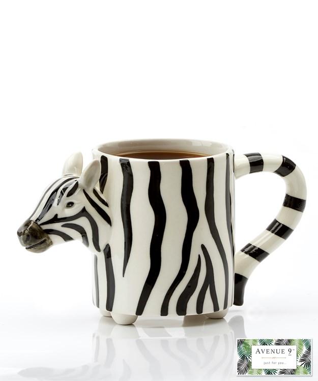 Avenue 9 Tropical Retreat, Porcelain Zebra Mug