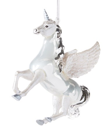 GlassUnicornOrnament