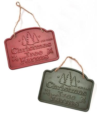 Metal Christmas Sign-Tree Farm