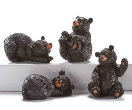 Mini Resin Bear Figurines, 4 Asst.