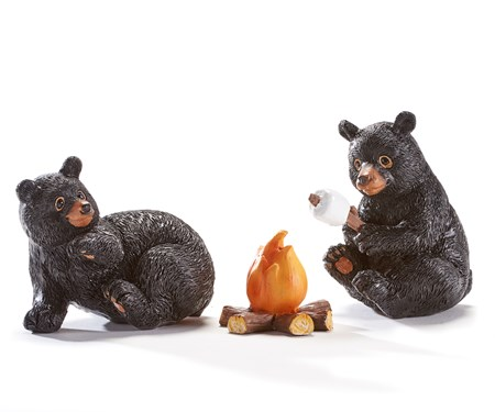 Poly Resin Bear Figurines, Set of 3.