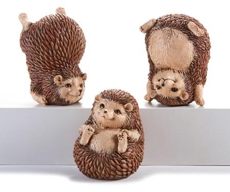 Poly Resin Tumbling Hedgehogs, 3 Asst.