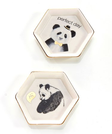 Avenue 9 Tropical Retreat, Ceramic Panda Trinket Dish