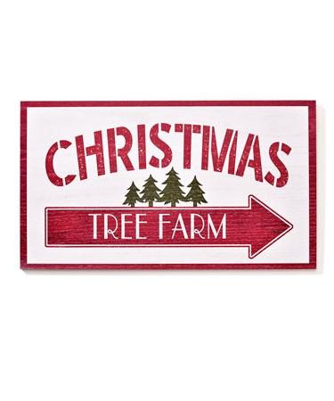 MDF Christmas Tree Farm Sign