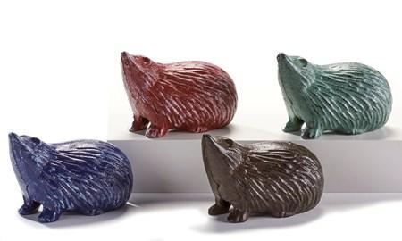 Cast Iron Hedgehog Keyhiders, 4 Asst.