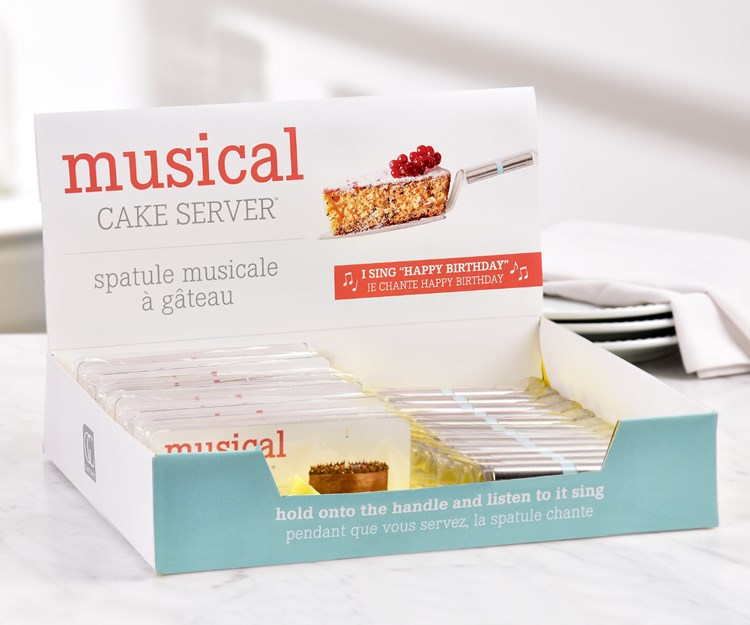 Musical Cake Serving Knife w/Displayer