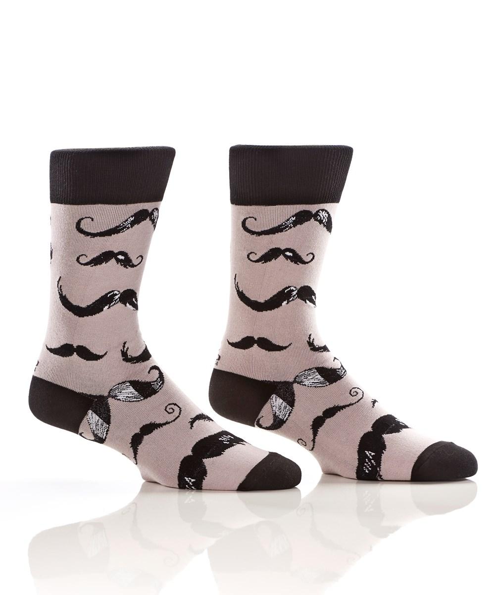 Mustachio, Men's Crew Sock, Mustaches