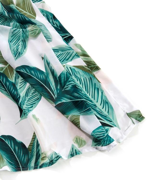 Avenue 9 Tropical Retreat, Leaf Pattern Kimono
