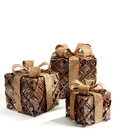 Paper/Rattan LED Giftbox Set/3
