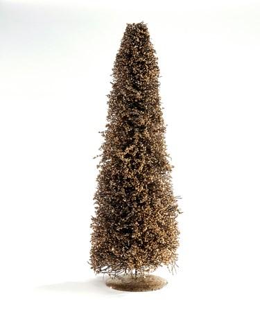 Med.Rattan Cone Tree w/Glitter