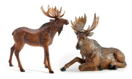 Moose Figurine, 2 Asst.