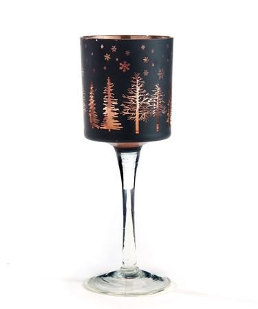 Med.Glass Goblet Candle Holder