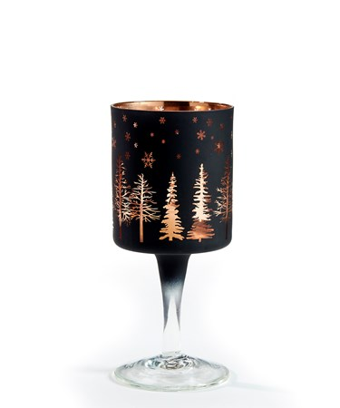 Sm.Glass Goblet Candle Holder