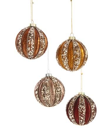 Glass Ball Ornament, 4 Asst.