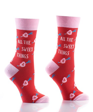 Women's Crew Sock, Sweet Things