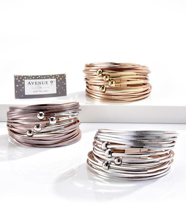 Multi-Strand Bracelet, 3 Asst.