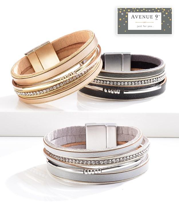 Stacked Bracelet, 3 Asst.