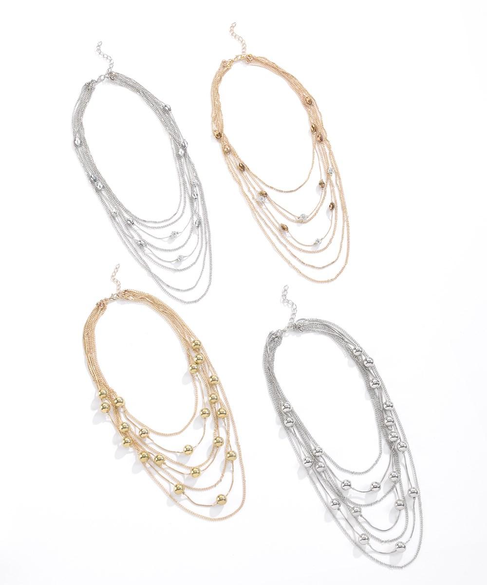 Multi-Strand Necklace, 4 Asst.