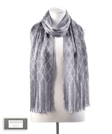 GreyDiamondPatternScarf