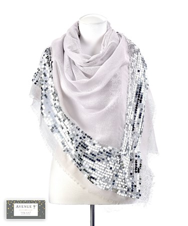SequinGreyScarf