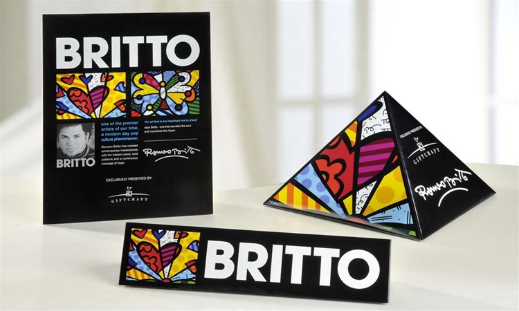 Romero Britto Point-of-Purchase Signage, 3/set
