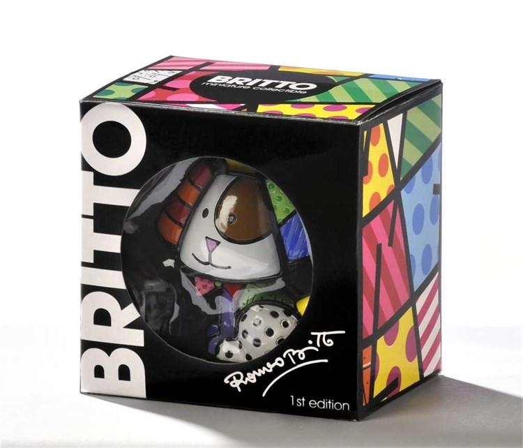Romero Britto Miniature Sugar Cat Figurine